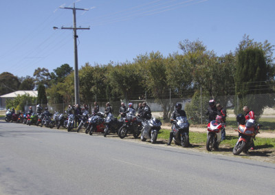 Brett leads the 23-bike convoy to Whittlesea, Yea, & Daylesford