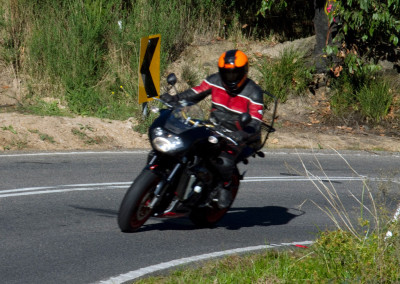 Evan's very relaxed 'Hanging Over at Kinglake' ride
