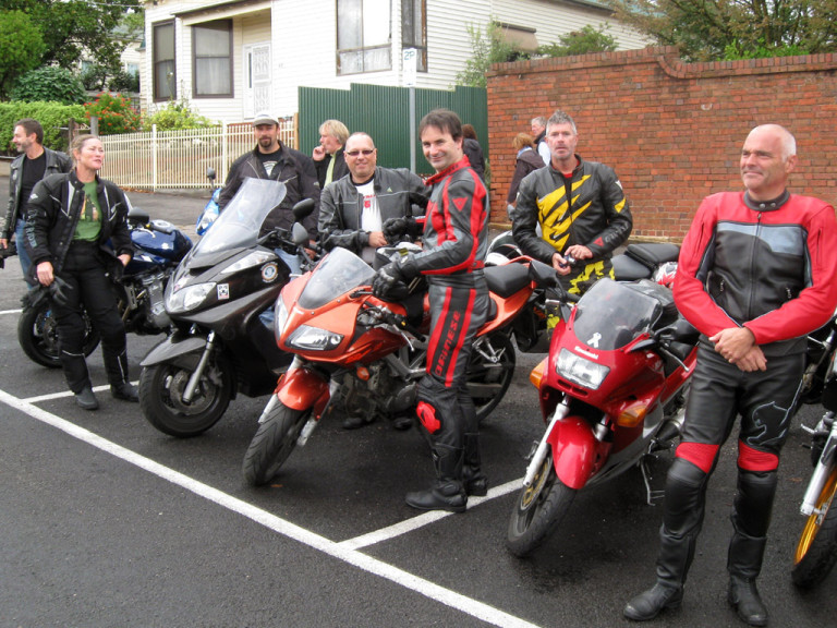 Tourers on parade at Daylesford ChillOut 2010